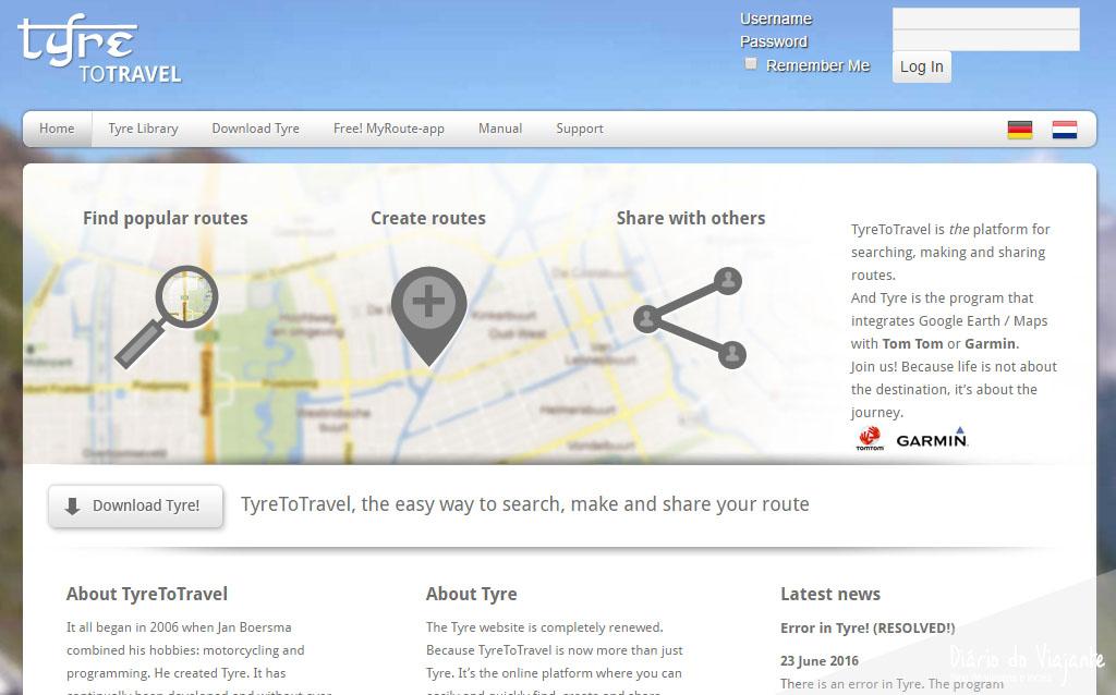 Dicas: Planear Viagens com o TyreToTravel | Diário do Viajante
