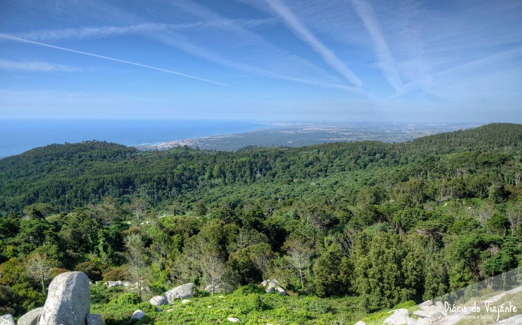 Sintra: Peninha Sanctuary, a viewpoint from Cascais to Lisbon