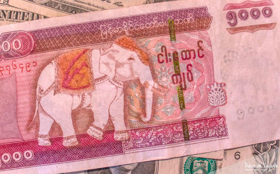 Dinheiro e custos em Myanmar